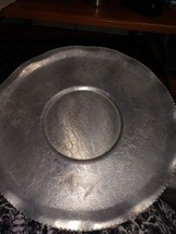 "Vintage Metal Platter Serving Tray 15"" - $9.90"