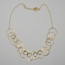 Choker Necklace Silver 925 Foil Gold with Circles by Maria Ielpo Made in Italy image 2