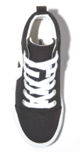 Cat & Jack Girls' Quincey Black Cream Mid-Top Lace Up Sneakers Shoes NWT image 3