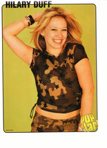 Hilary Duff teen magazine pinup clipping army outfit hand in her hair
