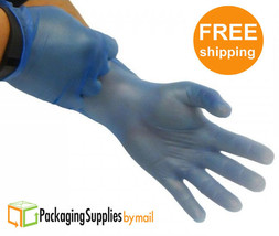 Blue Vinyl Disposable Gloves Powder Free 4.5 Mil Size: Small 40 Box = 40... - $111.96