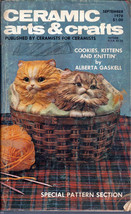 Ceramic Arts & Crafts Magazine September 1978 Cookies, Kittens and Knitting - $3.95