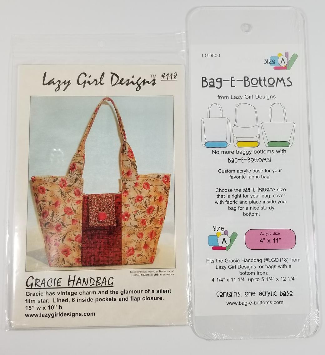 Gracie Purse Handbag Pattern Lazy Girl Designs Includes Acrylic  Bottom Base