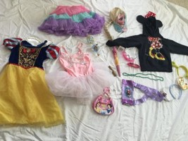 GIRLS Costume PLAY DISNEY PRINCESS DRESS UP LOT Shoes Play 4-6 Mixed - $37.39