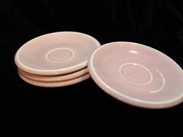 Vintage MCM Epicure Homer Laughlin Harlequin Pink Saucer Set of 4 - $25.00