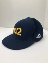 Adidas Ezstretch Hat Fitted L/XL Blue Embroidered Spell Out - $14.84