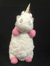 "Despicable ME 2 Plush Pillow Fluffy Agnes Unicorn 22"" Universal Studios White - $32.21"