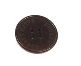 "Org Ralph Lauren plastic Dark Plum Color logo Replacement Sleeve button .60"" - $2.92"