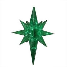 """PENN 19"""" LED Green Twinkling 3D Bethlehem Star Hanging Christmas Decor - $44.54"""