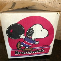 Vintage Snoopy Peanuts Bowling Ball Box EMPTY Brunswick RARE - $84.14