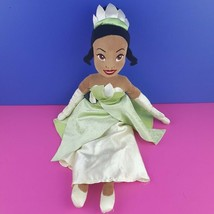 "Disney Store Princess and the Frog Tiana 20"" Plush Stuffed Doll Green Dr... - $29.69"