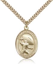Men's Bliss Gold Filled St. Christpher / Football Medal Pendant  - $135.50