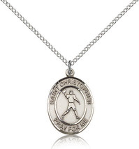 Women's Bliss Sterling Silver St. Christopher/Football Medal Pendant 815... - $52.50