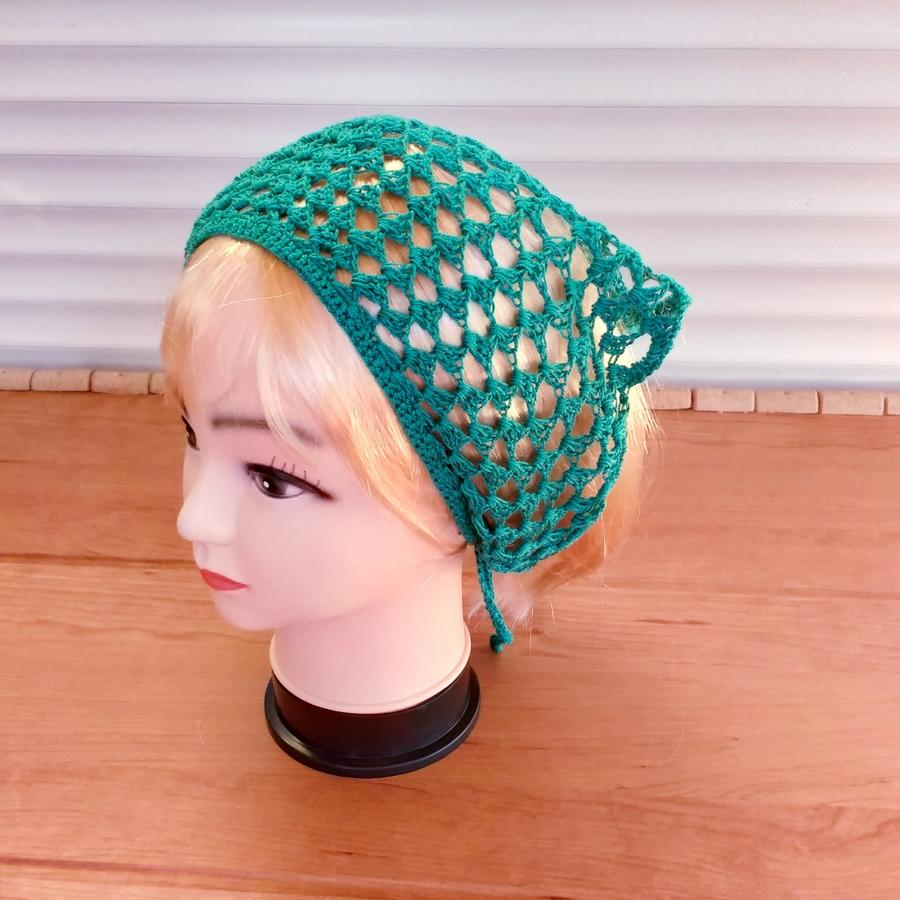Crochet Bandana KerchiefHairAccessoryHeadbandScarf       HandmadeGift