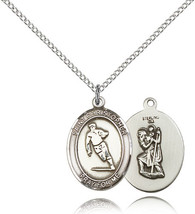 Women's Bliss Sterling Silver St. Christopher / Rugby Medal Pendant  - $52.50