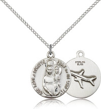 Women's Bliss Sterling Silver O/L of Loretto Medal Pendant Necklace  082... - $56.00