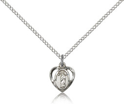 Women's Bliss Small Sterling Silver O/L of Guadalupe Medal Pendant 5422S... - $42.50