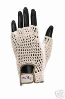 HJ Mens Half-Finger Golf Glove Small Left Hand