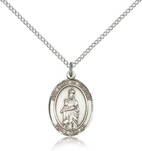 Women's Bliss Sterling Silver O/L of Victory Medal Pendant-18 Inch Necklace  - $49.50