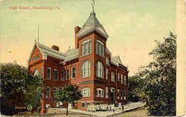 The High School 1914 Bloomsburg Pennsylvania  Post Card - $5.00