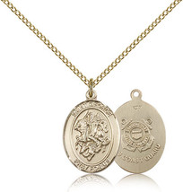 Women's Bliss Gold Filled St. George / Coast Guard Military Medal Pendant  - $103.50