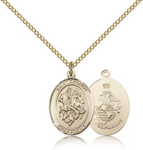 Women's Bliss Gold Filled St. George / Marines Military Medal Pendant  - $103.50