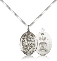 Women's Bliss Sterling Silver St. George / Air Force Military Medal Pend... - $52.50