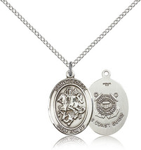 Bliss Sterling Silver St. George / Coast Guard Military Medal Pendant Fo... - $52.50