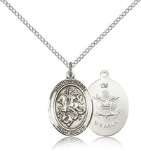Women's Bliss Sterling Silver St. George / Army Military Medal Pendant  - $52.50