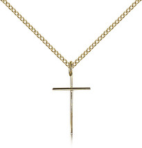Women's Bliss Gold Filled Cross Pendant-18 Inch Necklace 0014MGF/18GF - $64.50