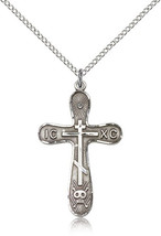 Women's Bliss Sterling Silver Cross Pendant-18 Inch Necklace 0263SS/18SS - $51.50