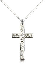Women's Bliss Sterling Silver Cross Pendant-18 Inch Necklace 0652YSS/18SS - $55.50