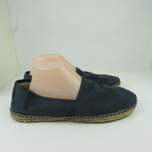 UGG Australia Mens Espadrille shoes Size 10 Blue Canvas Wool Lining Flat - $26.17