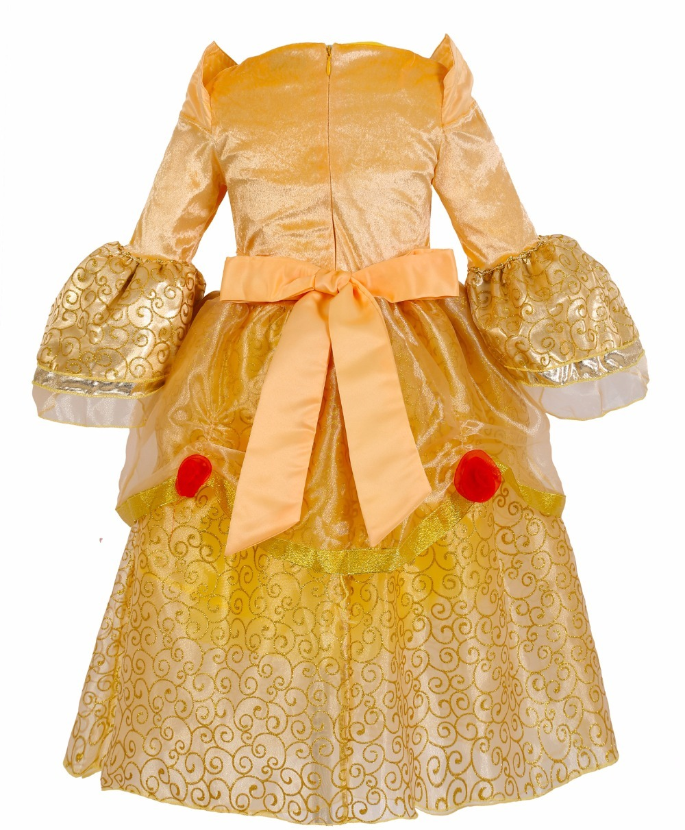 Beauty and beast cosplay dresses for girls belle princess kids girls costume dress christmas  2