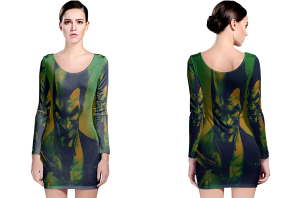 Batman arkham origins long sleeve bodycon dress
