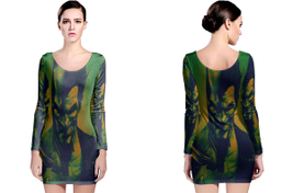 Batman arkham origins long sleeve bodycon dress thumb200