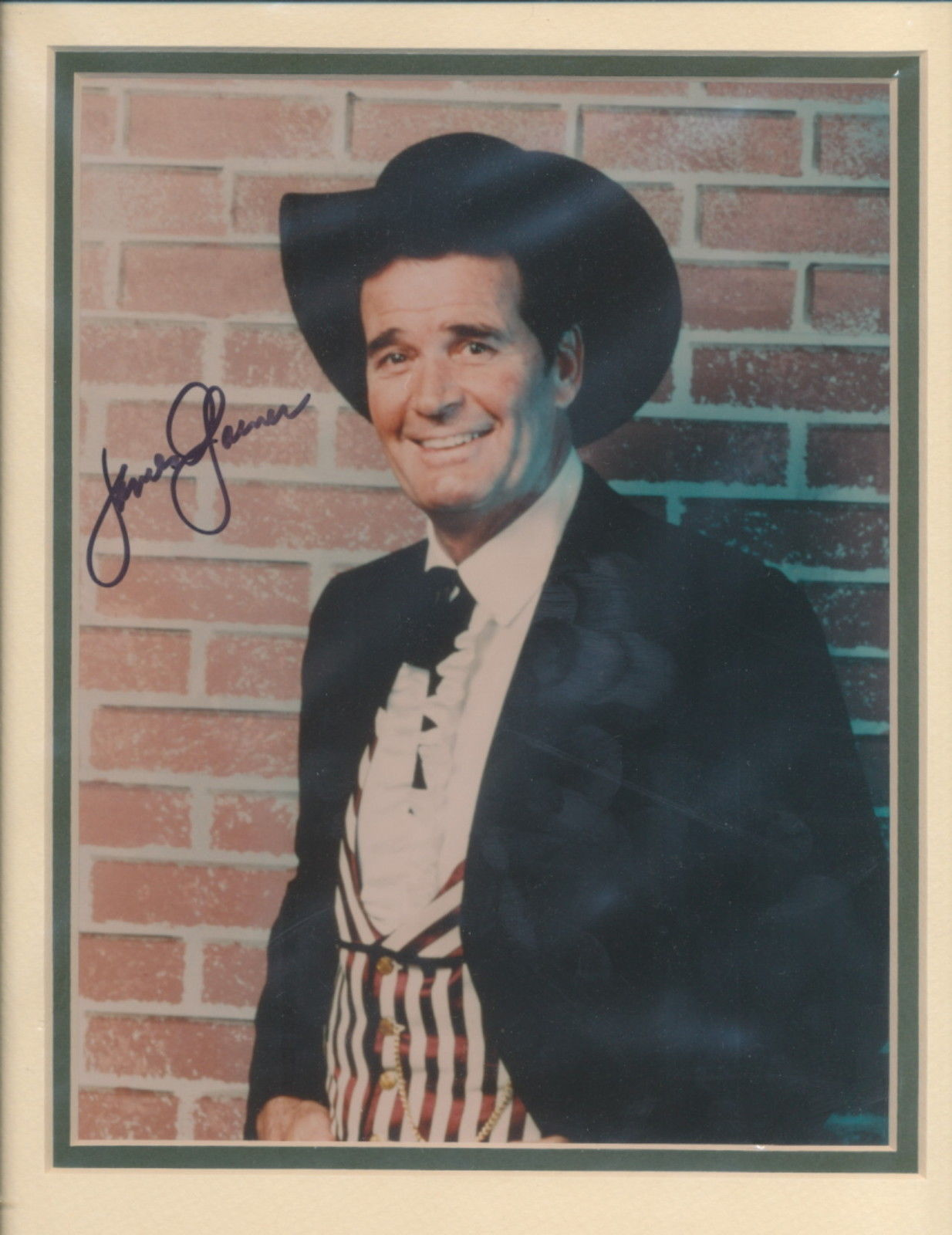 Primary image for James Garner signed photo. Double matted. . Sayonara. Maverick..