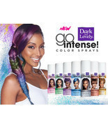 New Dark & Lovely Go Intense Color Sprays Hair Temporary Easy Wash Out 2... - £5.73 GBP