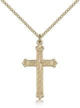 Women's Bliss Gold Filled Cross Pendant-18 Inch Necklace 5418GF/18GF - $71.00