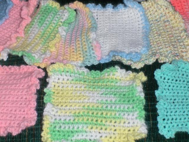 Wash Cloths Baby Amp Children Crochet Homemade Acrylic Yarn