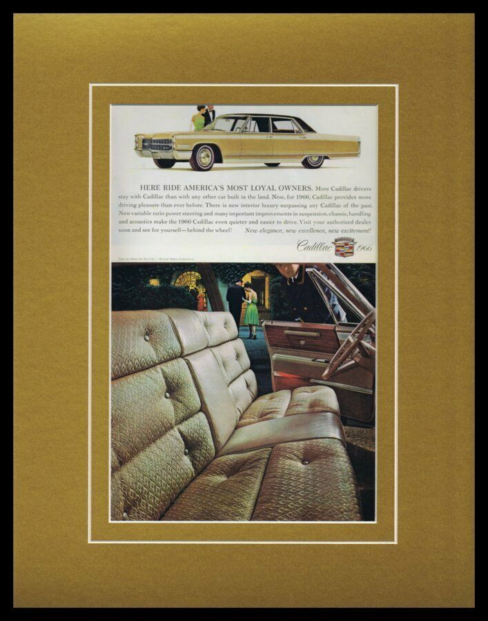 Primary image for 1966 Cadillac Framed 11x14 ORIGINAL Vintage Advertisement