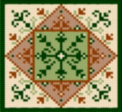 Latch Hook Rug Pattern Chart: COUNTRY TILE 1 - EMAIL2u