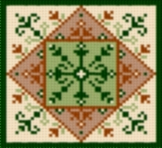 Latch Hook Rug Pattern Chart: Country Tile 1 - EMAIL2u - $5.50