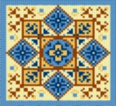 Latch Hook Rug Pattern Chart: Country Tile 2 - EMAIL2u - $5.50