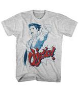 Ace Attorney Phoenix Wright Objection Men's T Shirt Vintage Gamer Capcom Gray - $19.50 - $29.50