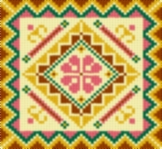Latch Hook Rug Pattern Chart: Country Tile 3 - EMAIL2u - $5.50