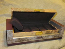 T.Harris Brand Vintage World Map 5-Piece Watch Case New In Box - $18.00