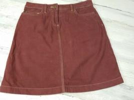 Womens Boden Jean Skirt Size 6 Regular Cotton Pockets Casual Spring Summer - $19.39
