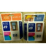 Set of 2 New, genuine HP 49 tri-color inkjet print cartridge 51649a - $10.00