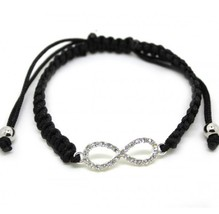 Trendy Candy Color Women's Braided Bracelet with Rhinestone Lucky Symbol - $6.99
